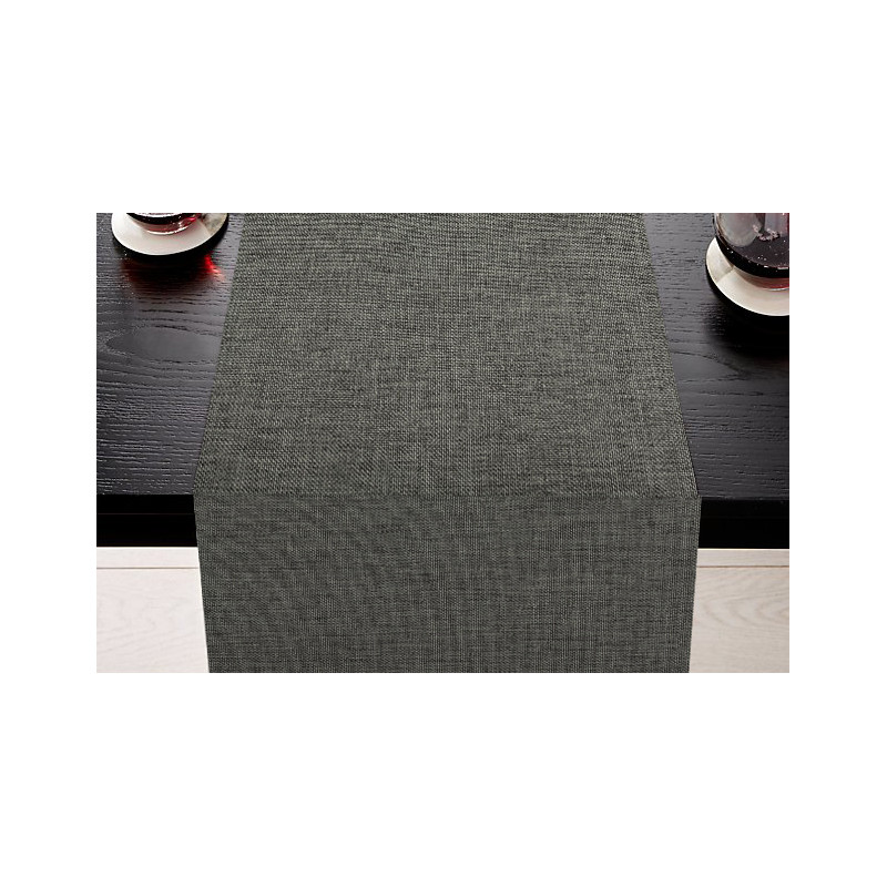 Chemin de table pour restaurant en polyester épais aspect chiné