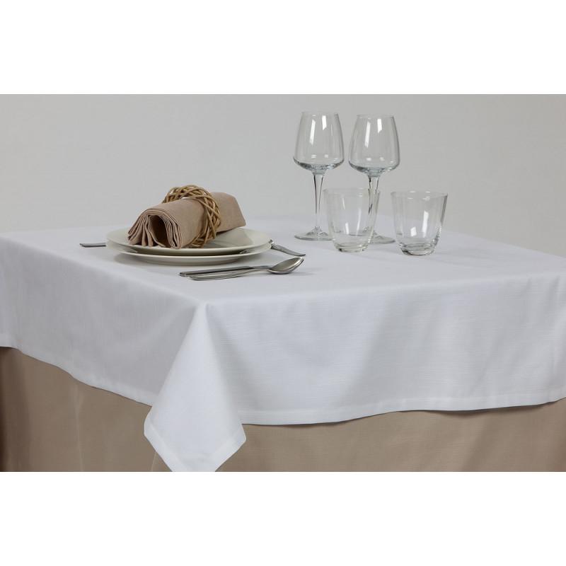 Nappe pour restaurant sur mesure en polycoton aspect naturel