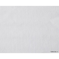 Chemin de table pour restaurant en tissu aspect lin blanc