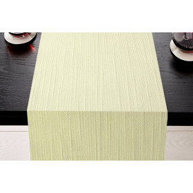 CHAMBERY - Chemin de table aspect naturel en polycoton 253 gr/m²