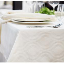 Nappe pour restaurant sur-mesure polycoton à motifs damassés
