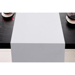 Chemin de table restaurant en polyester blanc traité non feu M1