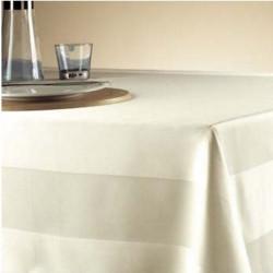 nappe-restaurant-coton-bande-satin-vanille