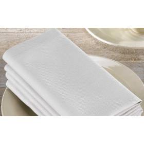 serviette-de-table-gris-blanc