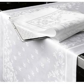 LILIUM - Nappe restaurant en 100% coton 220g/m² damassé floral