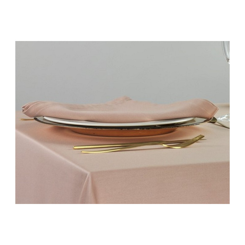 serviette-table-satin-polycoton-rose