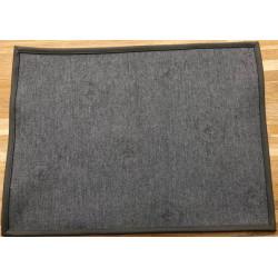 SKY - Set de Table en simili cuir - Dark grey