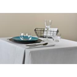 Nappe de restaurant sur-mesure en lin et polyester mélangés