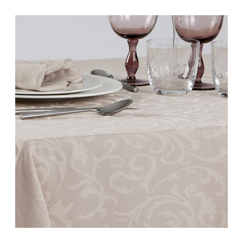 nappe-restaurant-damassee-fleurs