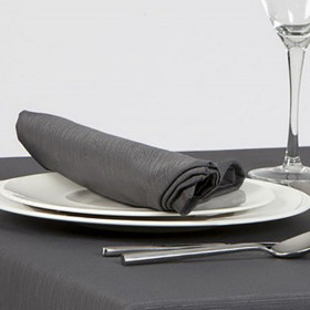 serviette-restaurant-sans-repassage-gris-anthracite
