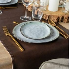 Chemin de table simili cuir - LEATHERLOOK - 120x45cm