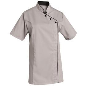 veste-de-cuisine-femme-gris-clair