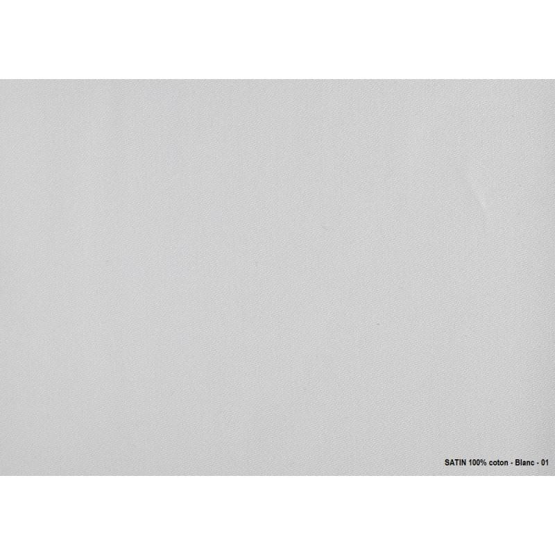 Echantillon tissu - SATIN 100% coton linge de table restaurant