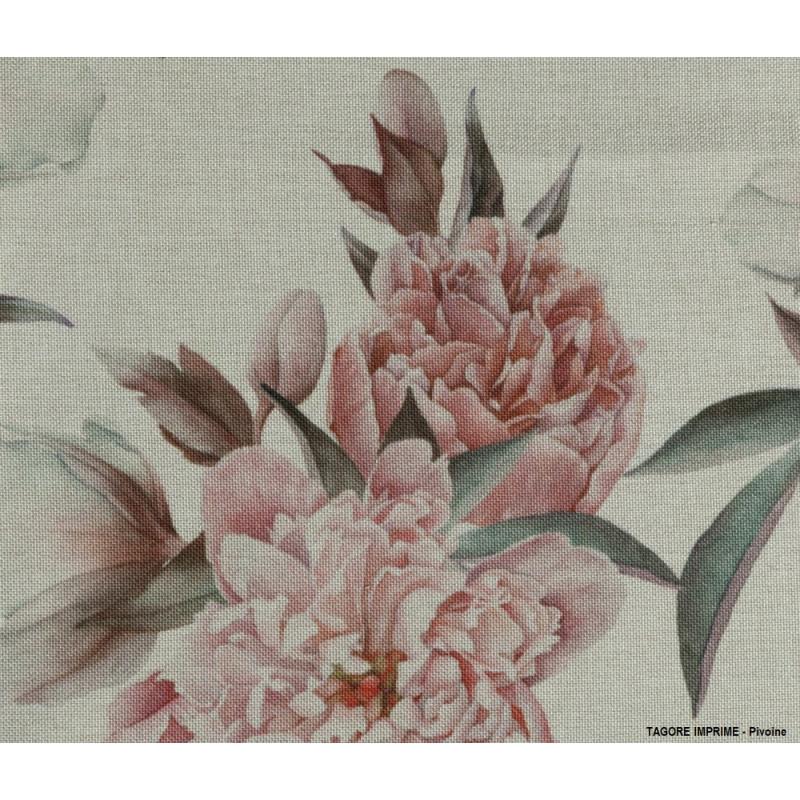 Echantillon tissu - TAGORE IMPRIME pour nappe vintage