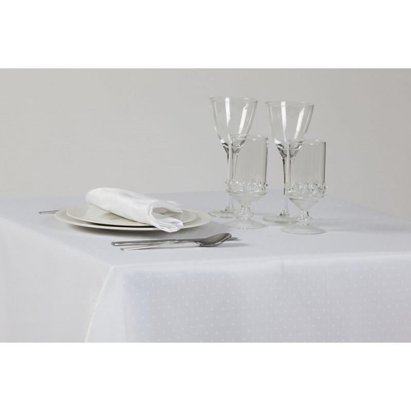 Nappe sur-mesure pour réception et restaurant - Broderie plumetis