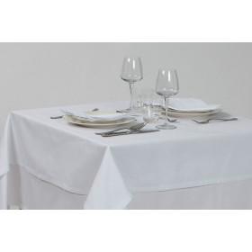 CREPE - Nappe blanche texturée en polycoton 50/50 210 gr/m²