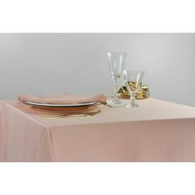 SATEN - Nappe blanche ou beige polycoton 50/50 250 gr/m²