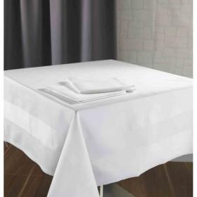 Nappe blanche éclatante en 100% coton peigné - New York - 205 gr/m²