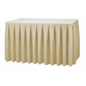 Juponnage plissé pour table rectangulaire - Plis plats - 170 gr/m²