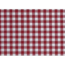 Nappe sur-mesure pour restaurant style bistro| Petits carreaux rouges