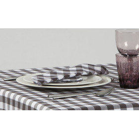 CAPRI - Serviette de table à grands carreaux en polycoton 190 gr/m²