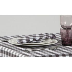 CAPRI - Serviette de table à grands carreaux en polycoton 190 gr/m²