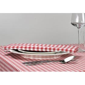 CAPRI - Serviette de table à petits carreaux en polycoton 190 gr/m²